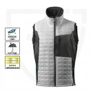 GILET DE TRAVAIL BODYWARMER ADVANCED BLANC /ANTHRACITE FONCE