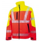 VESTE DE TRAVAIL SOFTSHELL HV SPRING JAUNE FLUO/ORANGE FLUO