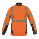 SWEAT DARWIN ORANGE FLUO/GRIS