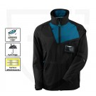 VESTE DE TRAVAIL ADVANCED NOIR/BLEU PETROLE T.4XL