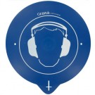 Support mural casque anti-bruit avec pictogramme
