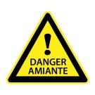 PANNEAU AMIANTE TRIANGLE SIGNAL DANGER